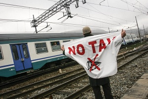 "NO-TAV ""Italian movement against High Speed Train""  © Paolo Siccardi"